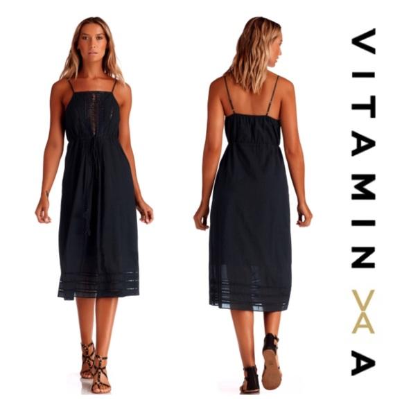 Vitamin A Dresses Black Gold Coast Dress Size S Nwt Poshmark